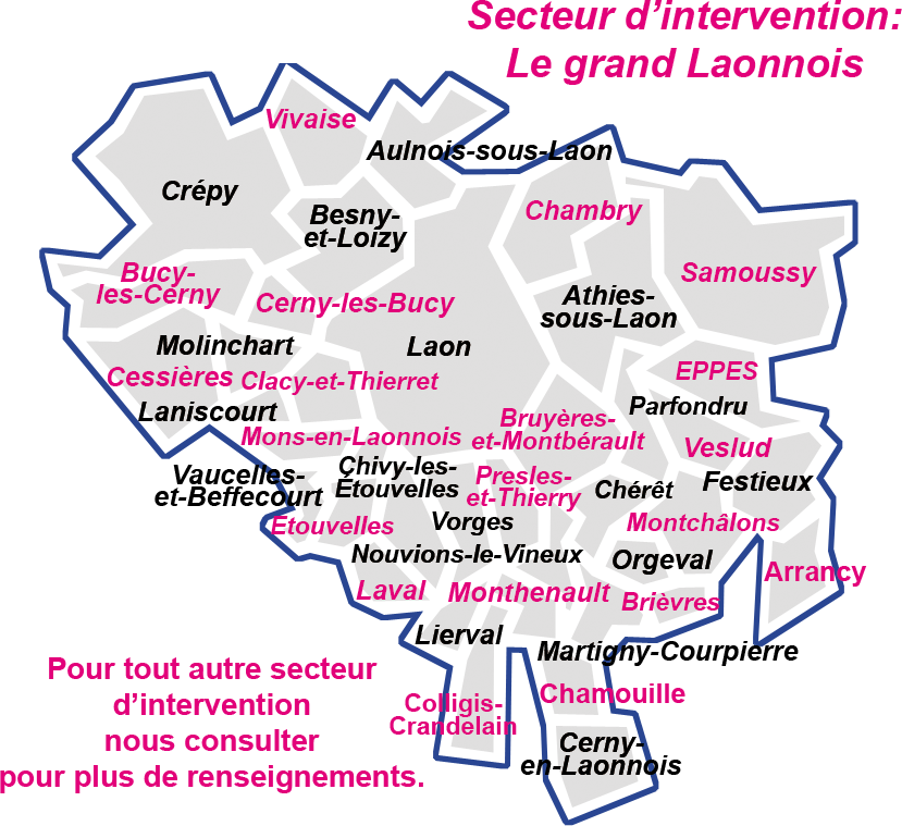 FAMILY SERVICES + : aide à la personne sur Laon dans l'Aisne - zone d'intervention